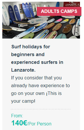 Surf holidays for beginners and experienced surfers in Lanzarote.